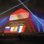 great pyramid illuminated