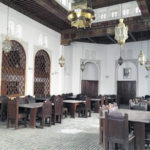 This April 14, 2016, photo shows the reading room of the Al-Qarawiyyin mosque in Fez, Morocco