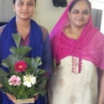 Arshiya with her mother  Dr Nusrat Choudhari