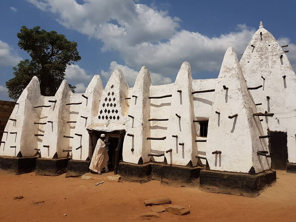 Inside a 700-Year-Old  Mosque in Ghana