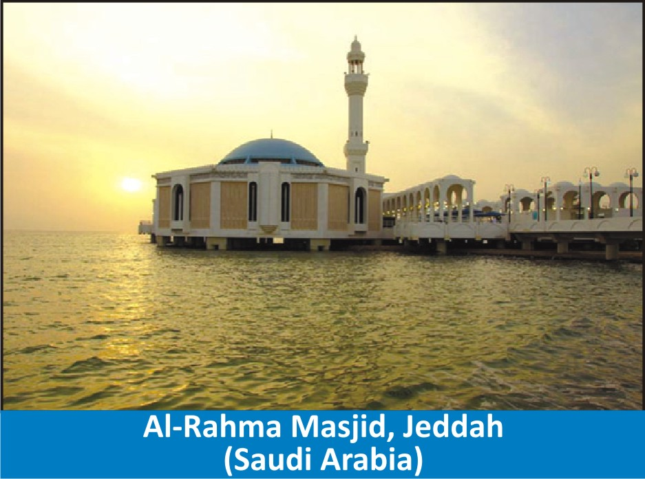 Beautiful  Mosques  Surrounded  by Water