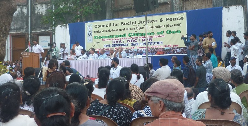Goa Church Holds Public  Protest Against CAA