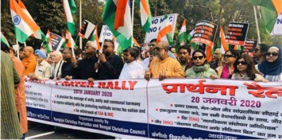 Kolkata Christians  Protest CAA, NRC