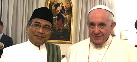 Leading Indonesian  Muslim Scholar meets  Pope Francis