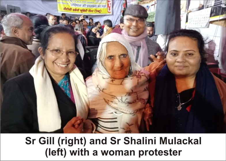 Catholic Religious Support Shaheen  Bagh's Women Protesters