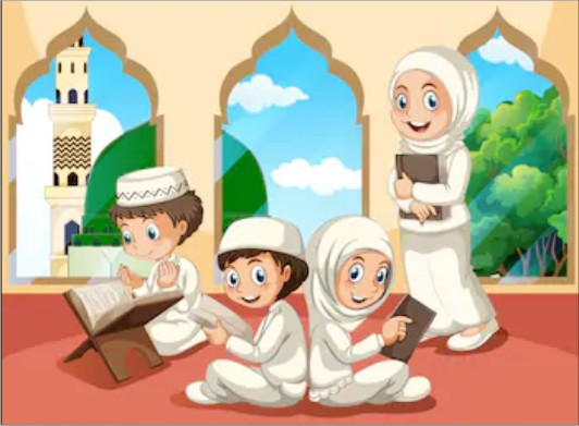 Welcome Children in The Mosque