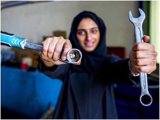 First Emirati Woman Mechanic