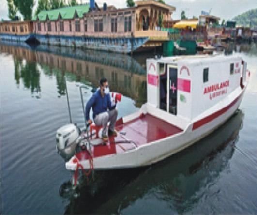 Tariq Ahmad Patloo: Floating Ambulance Service