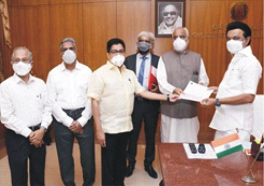 MEASI Donates Rs 1 cr  to CM Covid Relief Fund