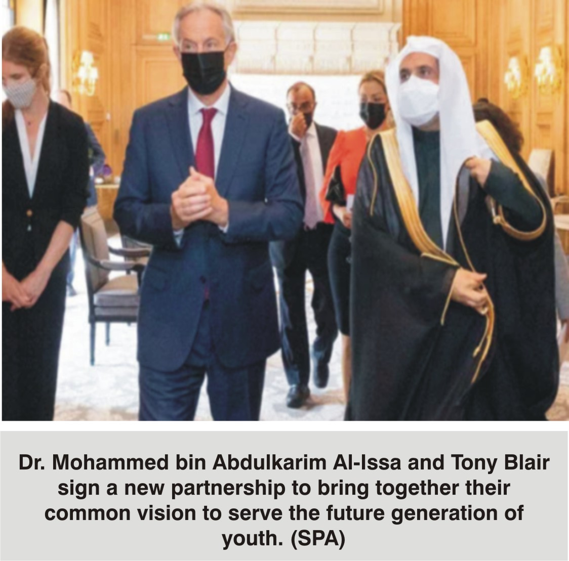 Muslim World League, Tony Blair  Institute for Global Change sign deal  to Empower 100,000 Young People